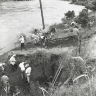 Clearing the site, Area A, 1967