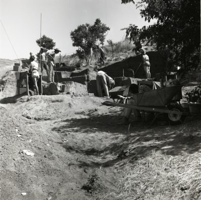 Excavation in progress, Area A, 1967