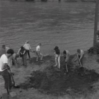 Clearing the site of Area A, 1967