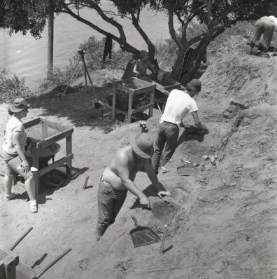 Excavation in progress, Area B, 1967