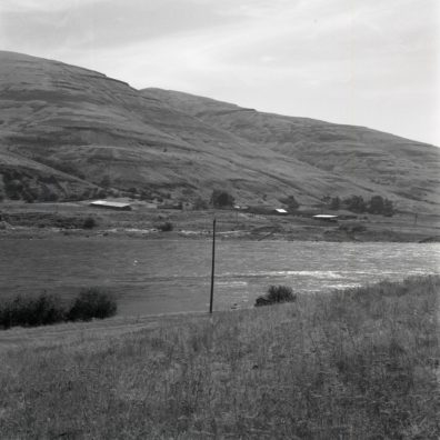 A view of the Granite Point locality from across the river, 1967