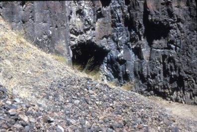 Squirt Cave before excavation 1964
