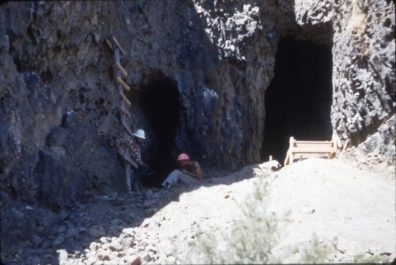 Excavators outside the openings to Squirt Cave 1964