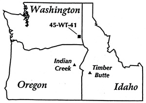 Map of Identified Obsidian Sources of Granite Point Samples(Source: Skinner and Davis 1998)