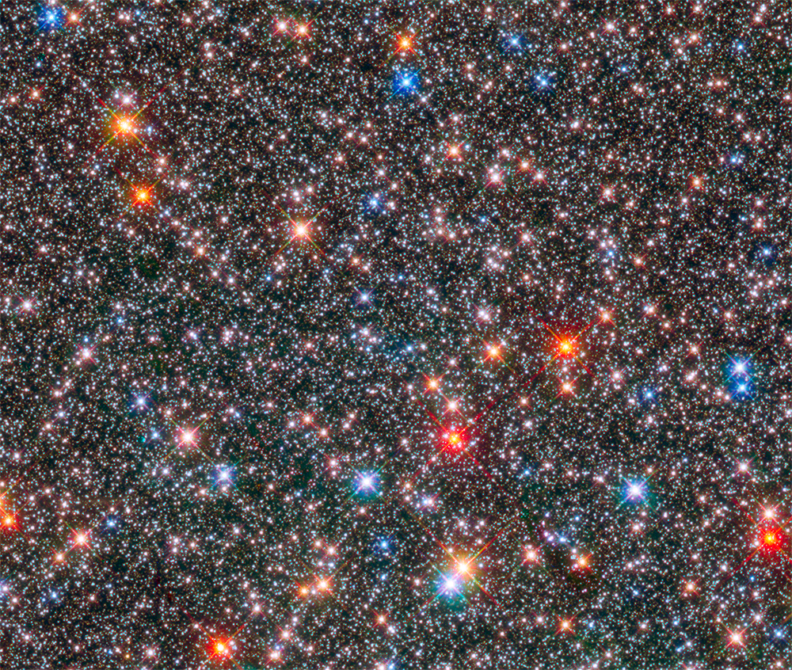 A Hubble telescope photo of stars in the Milky Way's galactic bulge