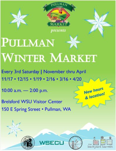 Flier for Pullman Winter Market