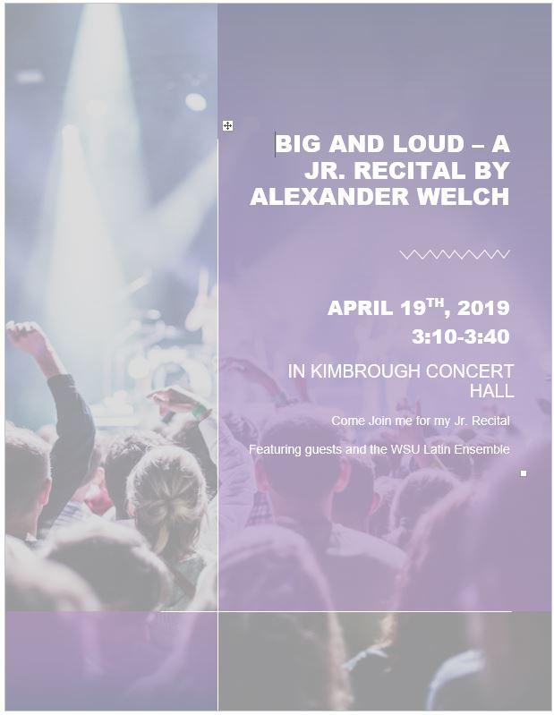 Big and loud poster