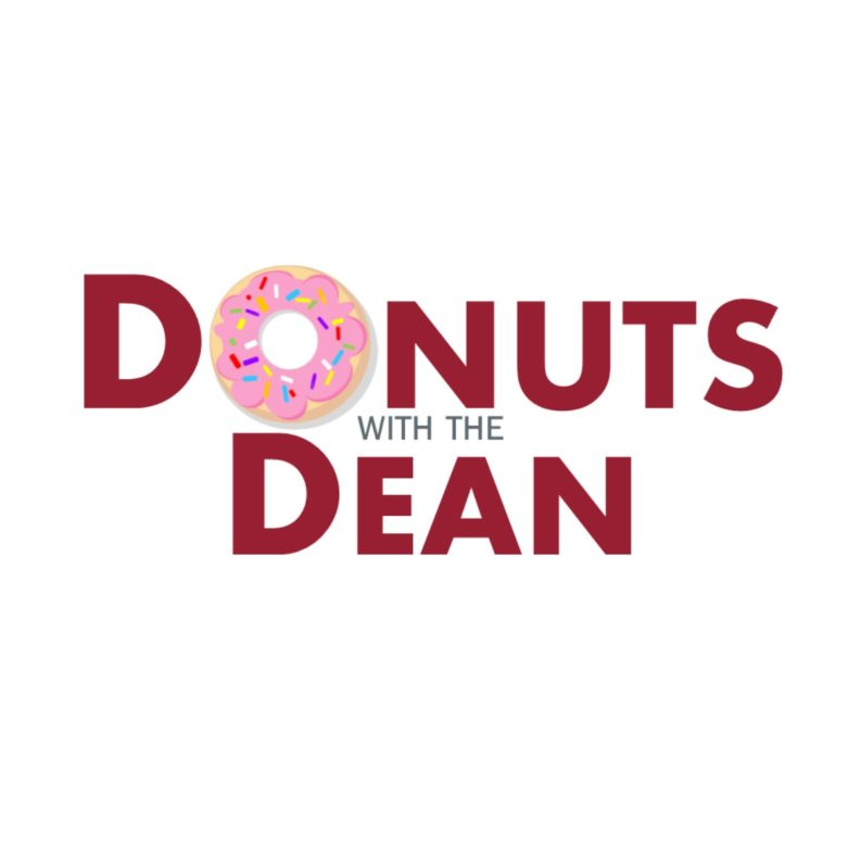 Donuts with the dean graphic