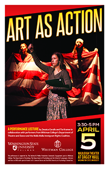 Flyer for Art As Action