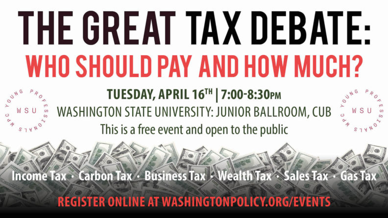 The Great tax debate poster