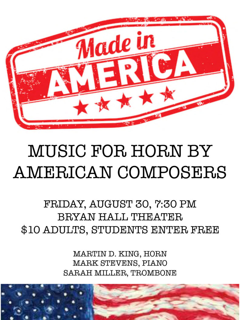 made in america recital poster august 30th 2019