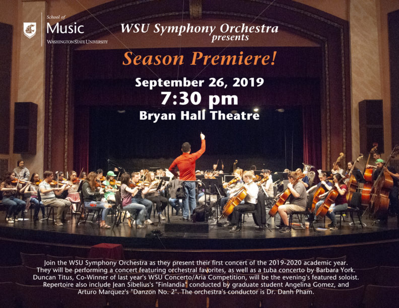 WSU Symphony Orchestra September 26 2019 Poster