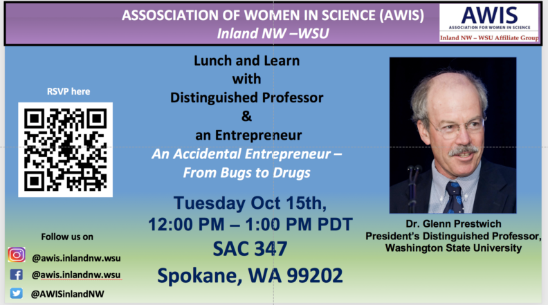 Association of Women in Science Lunch & Learn with Distinguished Professor & an Entrepreneur Event Poster