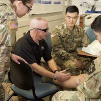 Army medics in training