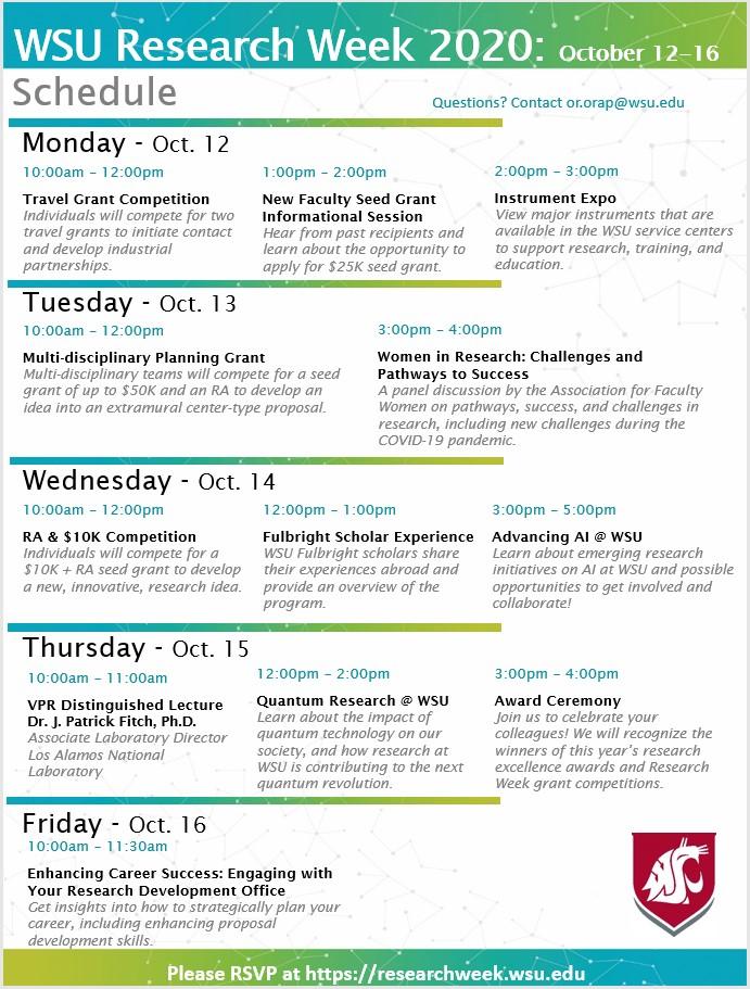 Research Week flyer