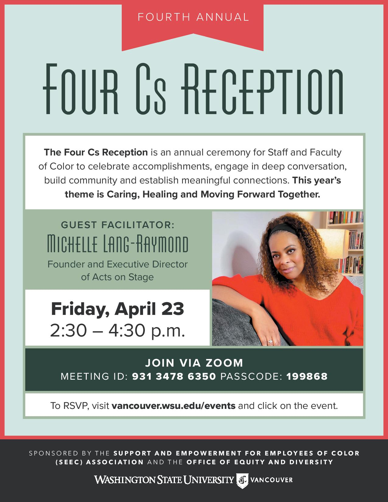 Four Cs Reception Flyer