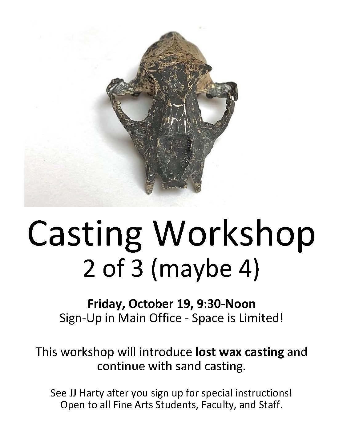 Casting Workshop 2 of 3   Fine Arts   Washington State