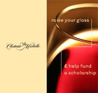 Ste. Michelle marketing materials generate awareness of the WSU W&E program.