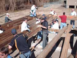 building with Habitat for Humanity in hurricane-devastated New Orleans