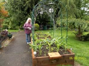 Longview resident and gardener Pam Atkinson. Photo courtesy of Phyllis Hull.