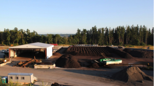Commercial compost facility in Snohomish County. Photo courtesy of Lenz Enterprises.