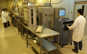 Working to keep frozen and child foods safe, Tang and colleagues use a pilot-scale microwave-assisted pasteurization system developed at WSU.