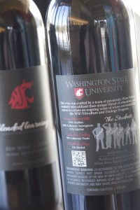 Student-winemakers are featured on the bottle.