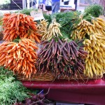 Colorful carrots grown by Full Circle Farm sold at the Ballard Farmers Market in Seattle. Photo: Michael Porter.