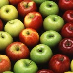 Golden Delicious, Gala, Granny Smith and Red Delicious apples. (Photo courtesy of USDA ARS)