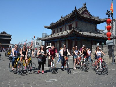 AMDT students bicycle in the city of Xi'an, one of the oldest, culturally richest cities in China.