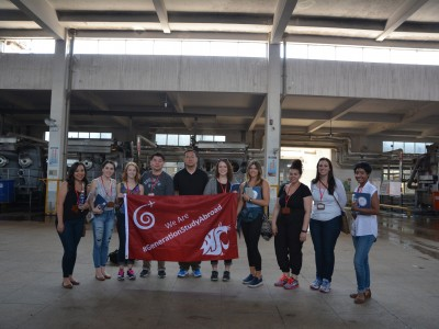 AMDT students visit a Mengdi Group manufacturing center in Shanghai.
