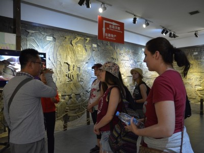 AMDT students tour the Silk Road Museum in Xian.
