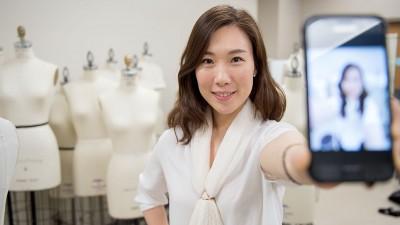 WSU fashion researcher Jihyeong Son. (Photo by Robert Hubner, WSU Photo Services)
