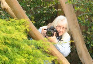 Kathy Keatley Garvey, a WSU graduate and insect lover/photographer. (Photo by James J. Garvey)