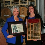Dr. Kim Kidwell (left) and award recipient Cristie Crawford (right)