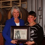 Dr. Kim Kidwell and first award recipient Jenny Glass