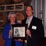 Dr. Kim Kidwell and second award recipient John Haugen