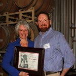 Dr. Kim Kidwell and award recipient Kevin Murphy