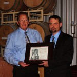 Rich Koenig (left) and the award recipient Timothy Waters (right)