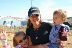 Jennifer Camp with her daughter, Mia, and son, Mason.