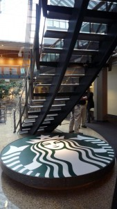 A Starbucks interior designed by Robbins