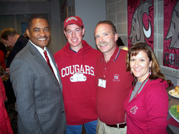 Melissa and Jim Bozich with Timothy Hall and WSU President Elson Floyd
