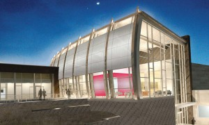 The Architect's rendering of the wine center.