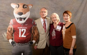 Jim and Lee Ella Ruck and Barb Smith with Butch T. Cougar