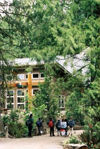 "Focusing on ecological sensitivity, landscape architect and WSU alumnus Tom Berger designed the LEED Gold-certified IslandWood education center on Bainbridge Island. Berger's works are the focus of the first ""Building Legacies"" gallery show and reception at WSU."
