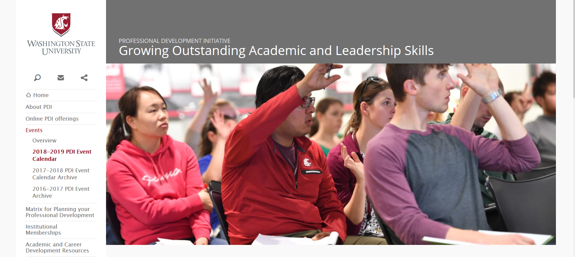 Outstanding Academic and Leadership Skills Banner Page