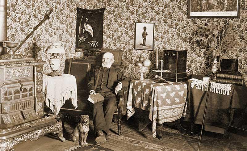 James Davis in an interior room of the Steptoe Hotel.