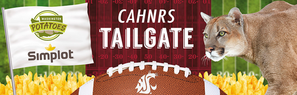 CAHNRS Tailgate, Simplot Logo, Cougar, French Fries, Football