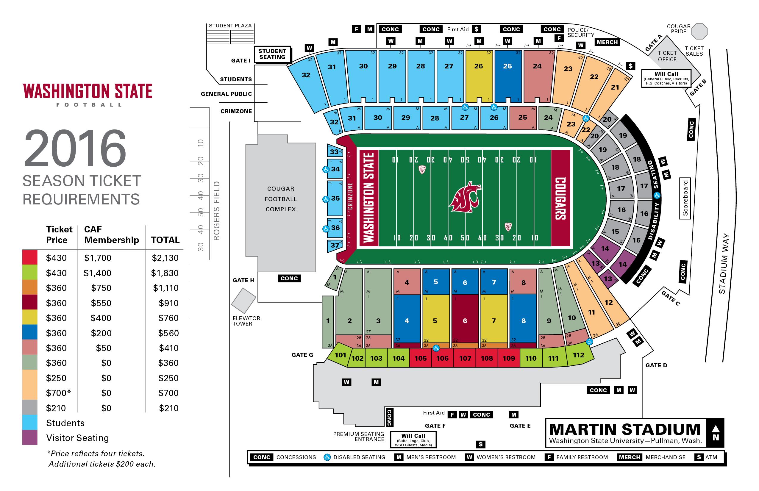 Martin stadium seating chart