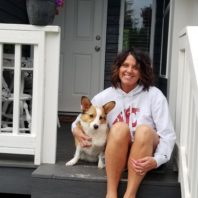 Kristy Fiorini and her Corgi, Murray